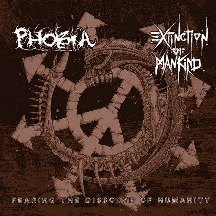 Extinction Of Mankind / Phobia - Split LP