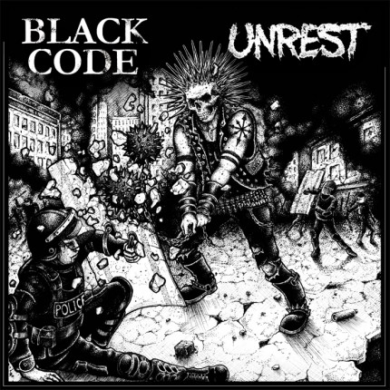 Unrest / Black Code - Split LP