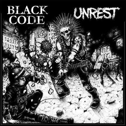 Unrest / Black Code - Split LP