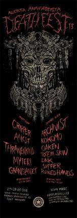 Alerta Antifascista Deathfest#13 2-Day Festival Poster